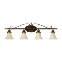 Drawing Room 4 Light 36 inch Walnut Vanity Strip Wall Light in 36.25