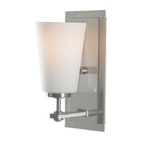 Feiss VS14901-BS Sunset Drive 1 Light 5 inch Brushed Steel Vanity Strip Wall Light in Opal Etched Glass photo thumbnail