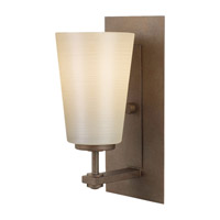 Feiss VS14901-CB Sunset Drive 1 Light 5 inch Corinthian Bronze Vanity Strip Wall Light in Pearl Glass photo thumbnail