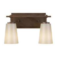 Sunset Drive 2 Light 14 inch Corinthian Bronze Vanity Strip Wall Light in Pearl Glass