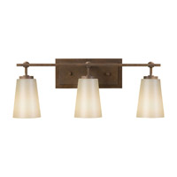Sunset Drive 3 Light 23 inch Corinthian Bronze Vanity Strip Wall Light in Pearl Glass