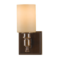Sullivan 1 Light 5 inch Heritage Bronze Vanity Strip Wall Light in Cream Etched Glass, 4.5