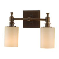 Feiss VS16102-HTBZ Sullivan 2 Light 13 inch Heritage Bronze Vanity Strip Wall Light in Cream Etched Glass