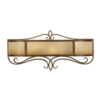 Justine 2 Light 24 inch Astral Bronze Vanity Wall Light in Fluorescent