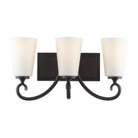 Feiss Peyton 3 Light Vanity Strip in Black VS16503-BK photo thumbnail