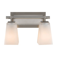 Feiss Clayton 2 Light Vanity Strip in Brushed Steel VS16602-BS