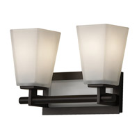 Clayton 2 Light 13 inch Oil Rubbed Bronze Vanity Strip Wall Light