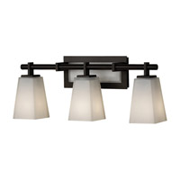 Clayton 3 Light 25 inch Oil Rubbed Bronze Vanity Strip Wall Light in 22.25