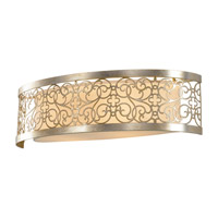 Arabesque 2 Light 24 inch Silver Leaf Patina Vanity Strip Wall Light in Standard