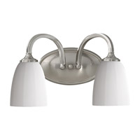 Feiss Perry 2 Light Vanity Strip in Brushed Steel VS17402-BS
