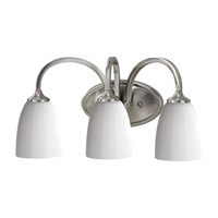 Feiss Perry 3 Light Vanity Strip in Brushed Steel VS17403-BS