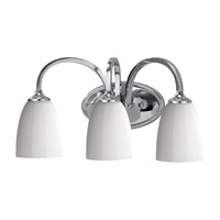 Perry 3 Light 18 inch Chrome Vanity Strip Wall Light