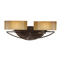 El Nido 2 Light 18 inch Mocha Bronze Vanity Strip Wall Light