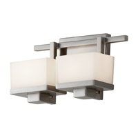 Feiss Tierney 2 Light Vanity Strip in Brushed Steel VS18302-BS