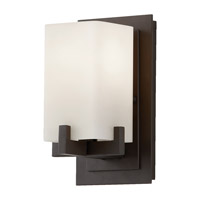 Riva 1 Light 5 inch Oil Rubbed Bronze Vanity Strip Wall Light in Cream Etched Glass