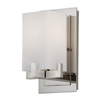 Feiss VS18401-PN Riva 1 Light 5 inch Polished Nickel Vanity Strip Wall Light in Opal Etched Glass
