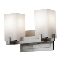 Feiss Riva 2 Light Vanity Strip in Brushed Steel VS18402-BS