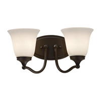 Feiss Beckett 2 Light Vanity Strip in Oil Rubbed Bronze VS18502-ORB