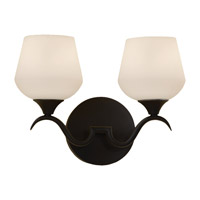Feiss Merritt 2 Light Vanity Strip in Black VS18602-BK