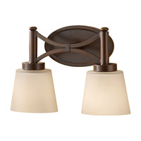 Feiss Nolan 2 Light Vanity Strip in Heritage Bronze VS18702-HTBZ photo thumbnail