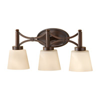 Nolan 3 Light 23 inch Heritage Bronze Vanity Strip Wall Light in 22.625