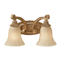 Feiss Blaire 2 Light Vanity Strip in Medium Aged Wood VS18802-MAW