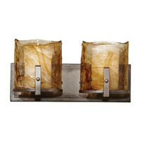 Aris 2 Light 16 inch Roman Bronze Vanity Strip Wall Light in 16.125