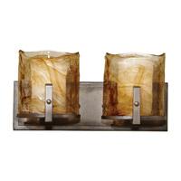 Feiss VS18902-RBZ Aris 2 Light 16 inch Roman Bronze Vanity Strip Wall Light in 16.125