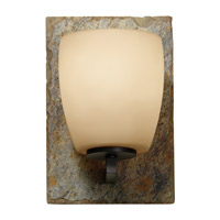 Feiss Quarry 2 Light Vanity Strip in Oil Rubbed Bronze and Rusted Slate VS19201-ORB/RSL
