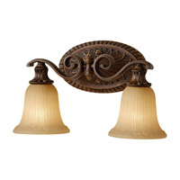 Feiss Francine 2 Light Vanity Strip in Firenze Gold VS19402-FG