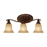 Feiss Francine 3 Light Vanity Strip in Firenze Gold VS19403-FG