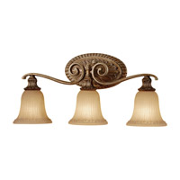Feiss Francine 3 Light Vanity Strip in Light Silver Leaf Sienna VS19403-LSLS