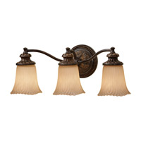Feiss VS19503-GBZ Emma 3 Light 22 inch Grecian Bronze Vanity Strip Wall Light in 21.5 photo thumbnail