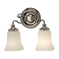 Feiss Brook Haven 2 Light Vanity Strip in Polished Nickel VS19602-PN