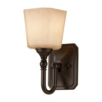 Concord 1 Light 5 inch Oil Rubbed Bronze Vanity Strip Wall Light in Cream Etched Glass, 4.625