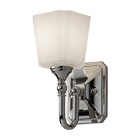 Concord 1 Light 5 inch Polished Nickel Vanity Strip Wall Light in Opal Etched Glass, 4.625
