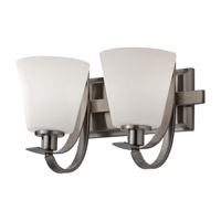 Feiss Spectra 2 Light Vanity Strip in Brushed Steel VS21002-BS