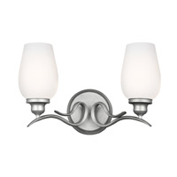Standish 2 Light 15 inch Heritage Silver Vanity Wall Light in Standard