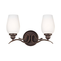Standish 2 Light 15 inch Oil Rubbed Bronze with Highlights Vanity Wall Light in Standard