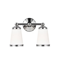 Eastwood 2 Light 14 inch Polished Nickel Vanity Wall Light in Standard