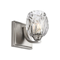 Feiss Kalli 1 Light Vanity in Satin Nickel with Clear Glass VS22701SN