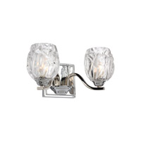 Feiss Kalli 2 Light Vanity in Chrome with Clear Glass VS22702CH