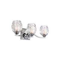 Kalli 3 Light 20 inch Chrome Vanity Wall Light