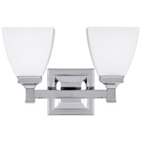 Putnam 2 Light 13 inch Chrome Vanity Wall Light