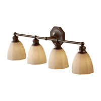 Feiss Nella 4 Light Vanity Strip in Heritage Bronze VS23004-HTBZ