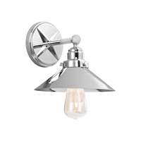Hooper 1 Light 9 inch Chrome Vanity Light Wall Light