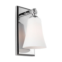 Feiss VS23701CH Monterro 1 Light 5 inch Chrome Vanity Light Wall Light