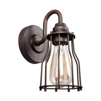 Calgary 1 Light 5 inch Parisian Bronze Vanity Light Wall Light