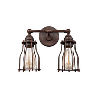 Feiss VS24002PRZ Calgary 2 Light 13 inch Parisian Bronze Vanity Light Wall Light