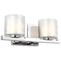 Feiss VS24202CH-L1 Volo LED 14 inch Chrome Vanity Light Wall Light